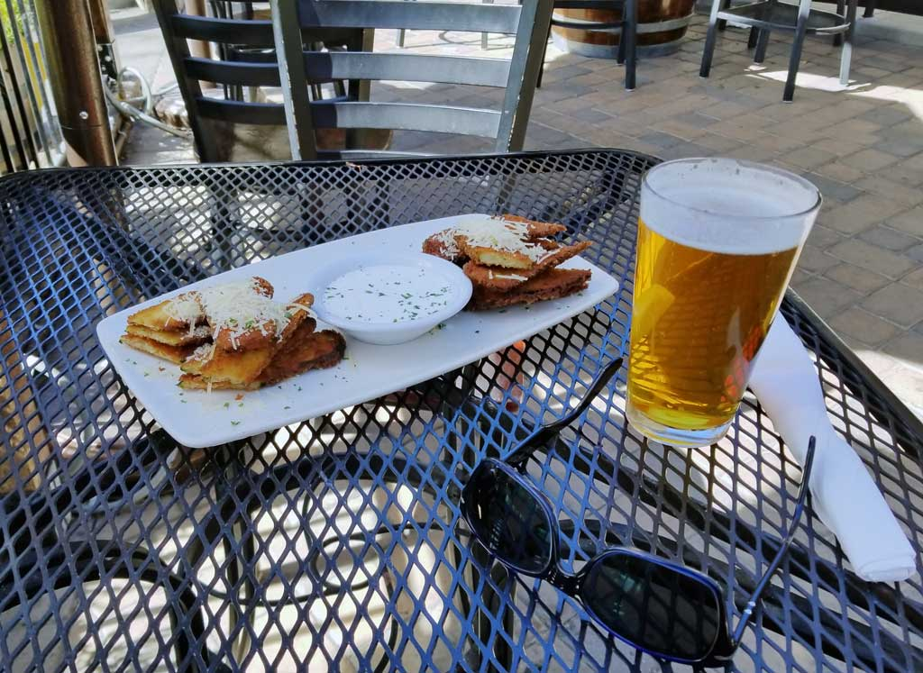 Panko Crusted Fried Zucchini Planks paired with the Solvang Brewing Co's Valhalla IPA.