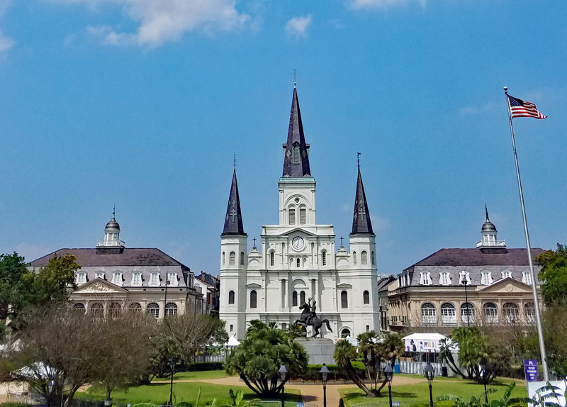 Jackson Square with St Louis cathedral.