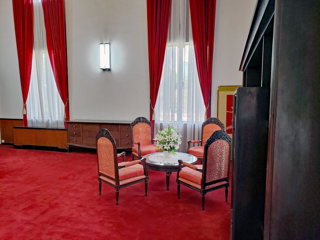 The President's office sitting area.